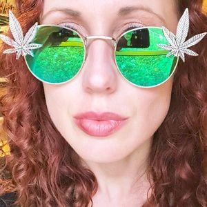 Accessories - 420 sunglasses pot leaf weed festival rave stoner